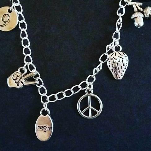 Lennon Themed Charm Bracelet